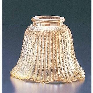 """Volume Lighting GS-07 3.75"""" Height Amber Bead Glass Bell Ceiling Fan Light Kit S"""
