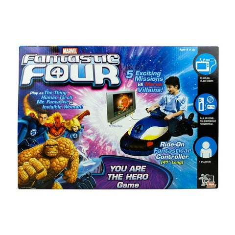Fantastic Four TV Video Game w/ Ride-On Fantasticar Marvel