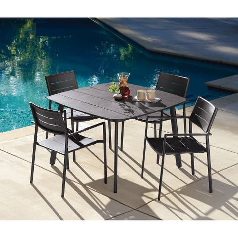 Eila 5-piece Carbon Patio Dining Table Set by Havenside Home