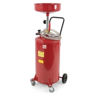 Arksen 20 Gallon Portable Waste Oil Drain Tank Air Operated Drainer, Red