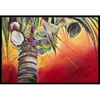 Carolines Treasures JMK1133MAT Sunset On The Coconut Tree Indoor & Outdoor Mat 18 x 27 in.