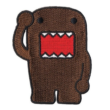 Domo Embroidered Patch - brown
