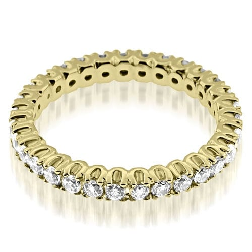 0.72 cttw. 14K Yellow Gold Round Cut Diamond Eternity Band Ring