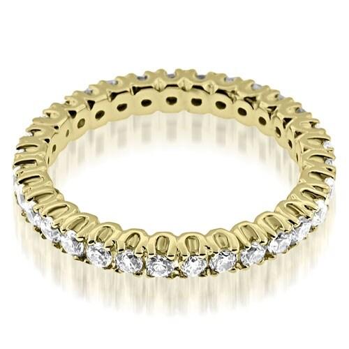 0.72 cttw. 14K Yellow Gold Round Cut Diamond Eternity Band Ring