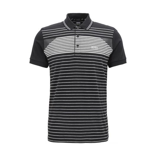 268ef5346e7c Shop Hugo Boss Men's Paddy 5 Black Striped Polo T-Shirt - Free Shipping  Today - Overstock - 20584614