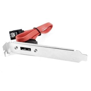 Unique Bargains 30cm 11.8  Red Internal SATA Cable to 1 Port External ESATA PCI Bracket Slot