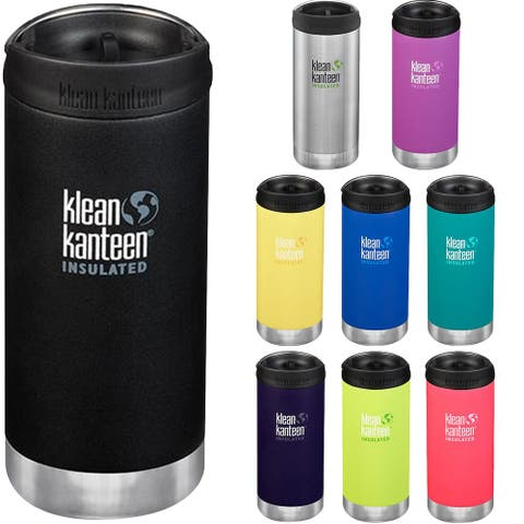 Klean Kanteen 12 oz. TKWide Insulated Stainless Steel Bottle with Cafe Cap - 12 oz.