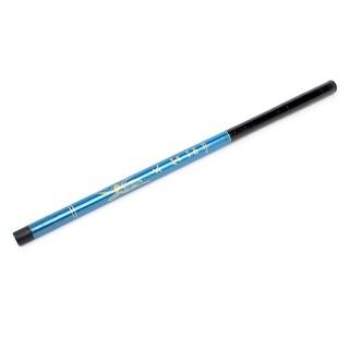 Black Blue Plastic 9 Sections Telescopic Fish Fishing Pole