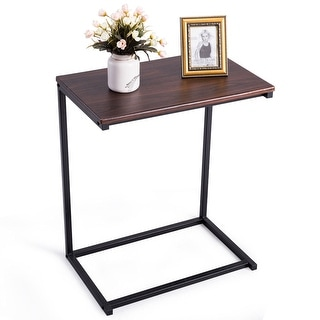 Gymax 26'' Laptop Holder Sofa Side End Table C Table Home Office Furniture