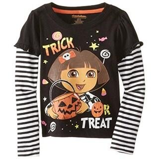 Nickelodeon Dora The Explorer Toddler Glitter T-Shirt - 2T
