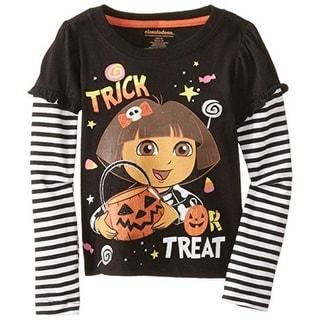 Nickelodeon Girls Dora The Explorer Glitter 2Fer T-Shirt