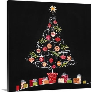 """Christmas Tree"" Canvas Wall Art"