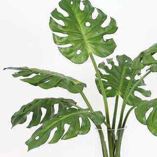 "G Home Collection Artificial Green Turtle Leaf Stem 31"" Tall"