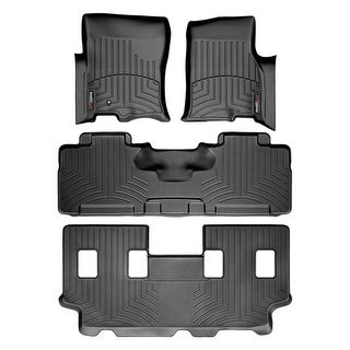 WeatherTech 44107-1-2-3 Black FloorLiner - All Rows: Ford Expedition EL 2007 - 2009