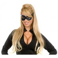 Black Leather Mask Adult Costume Accessory