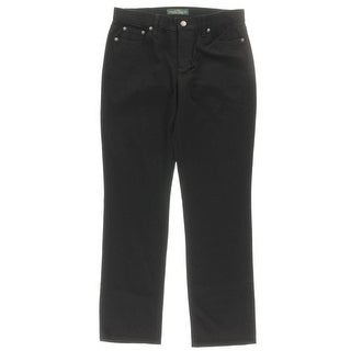 LRL Lauren Jeans Co. Womens Mid Rise Stretch Straight Leg Jeans - 10