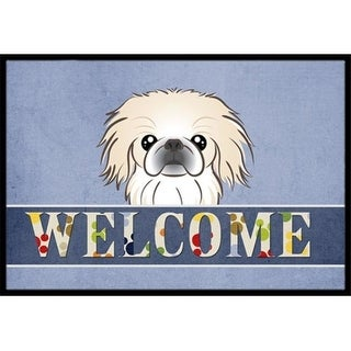 Carolines Treasures BB1407MAT Pekingese Welcome Indoor & Outdoor Mat 18 x 27 in.