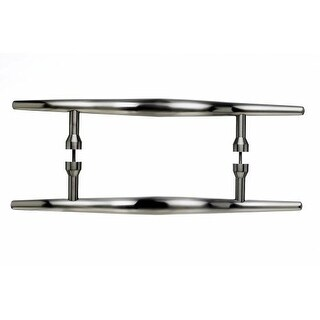Top Knobs M853-8pair Nouveau Collection 8 Inch Center to Center Brushed Satin Nickel Brook Back to Back Door Pull Pair