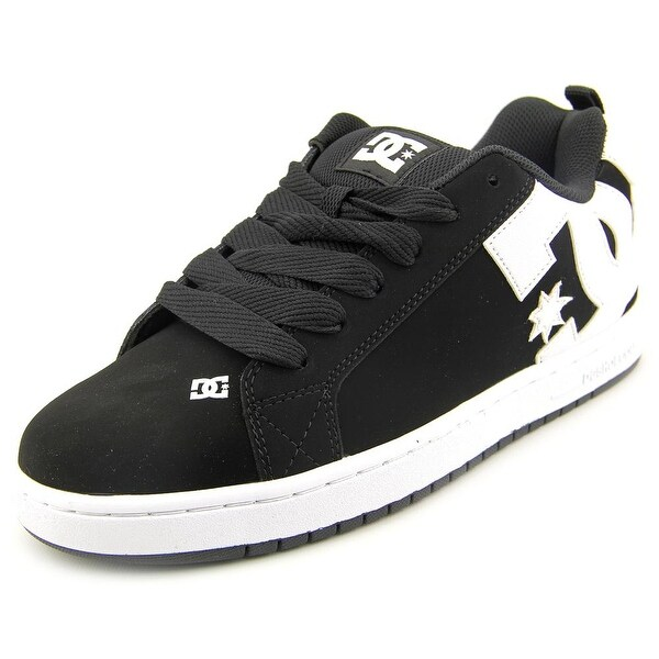 DC Shoes Court Graffik Men Round Toe Leather Black Skate Shoe