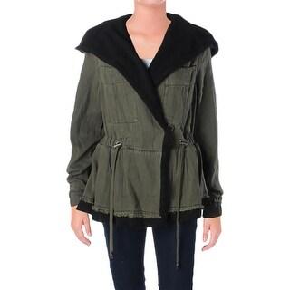 Free People Womens Jacket Slouchy Peplum - xs