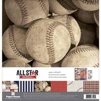 "Baseball - Paper House Paper Crafting Kit 12""X12"""
