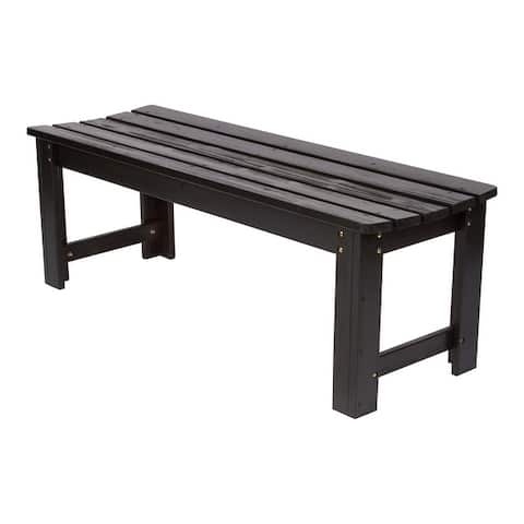 Shine Company 4 Ft. Backless Garden Bench with HYDRO-TEX finish