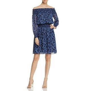 MICHAEL Michael Kors Womens Party Dress Off-The-Shoulder Floral Print
