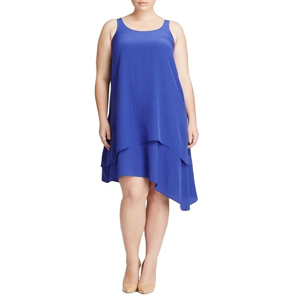 Eileen Fisher Womens Plus Casual Dress Silk Asymmetric