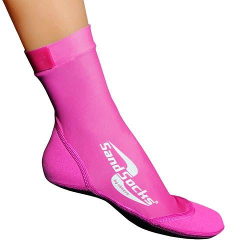 Sand Socks Classic High Top Neoprene Athletic Socks - Pink