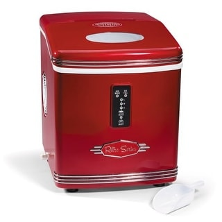 Nostalgia Electrics RIC100 Retro Series Ice Maker - Red