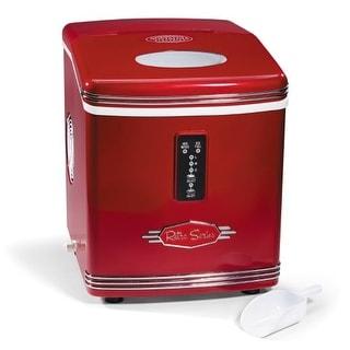 Nostalgia Electrics RIC100 Retro Series Ice Maker - Red