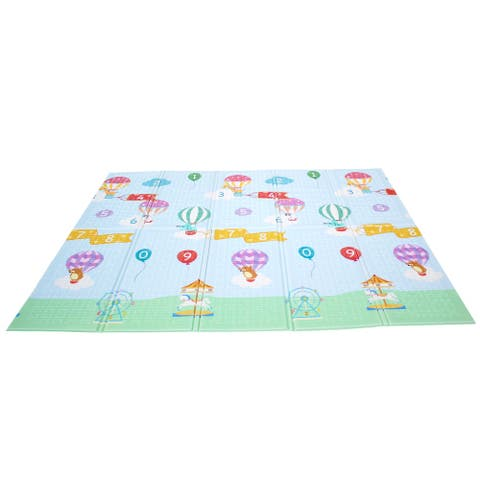 Fantasy Fields - Hot Air Balloon Animals Baby Crawling Play Mat - Multi-Color - 60.63 x 0.39 x 77.56 Inches