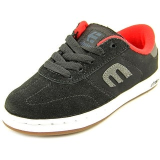 Etnies Lo-Cut 2 Youth  Round Toe Suede Black Sneakers