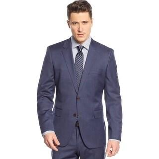 Hugo Boss The Keys Regular Fit Blue Neat Wool Sportcoat 38 Regular 38R