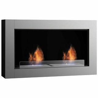 Link to Gymax 38 Inch Wall Mounted Bio-Ethanol Fireplace Ventless Dual Burner Similar Items in Dining Room & Bar Furniture
