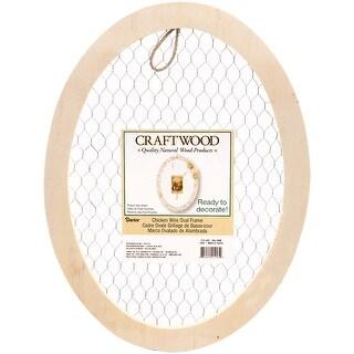 "Wood Chicken Wire Oval Frame-16""X12"""