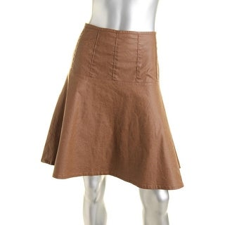 LRL Lauren Jeans Co. Womens Twill Fit & Flare A-Line Skirt