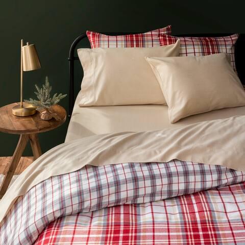 Martha Stewart Herringbone Flannel Sheet Set