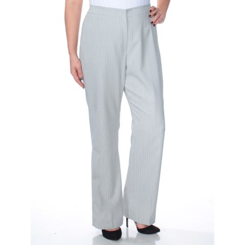 LE SUIT Womens Gray Pinstripe Straight leg Wear To Work Pants Size: 12