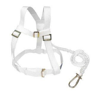 Nylon Adjustable Buckle Straps Band Climbing Harness White