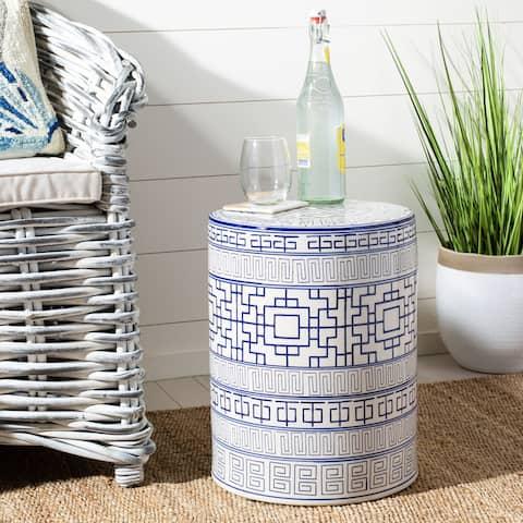 SAFAVIEH Parri Indoor / Outdoor Ceramic Decorative Garden Stool