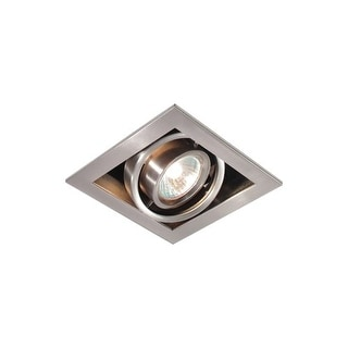"Bazz Lighting CUBG301BS RF GU10 Series Single-Light 6"" Tallations, Finished in Brushed Chrome"