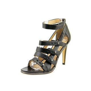 French Connection Nolinda Women Open Toe Leather Black Sandals