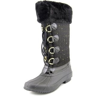 INC International Concepts Lorinah Women Round Toe Canvas Black Winter Boot