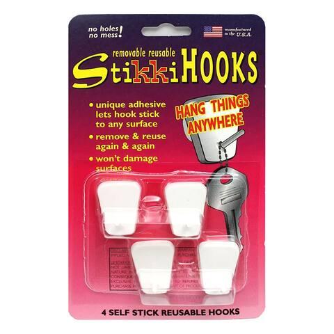 Stikkiworks stikkihooks 4-pk white 03020