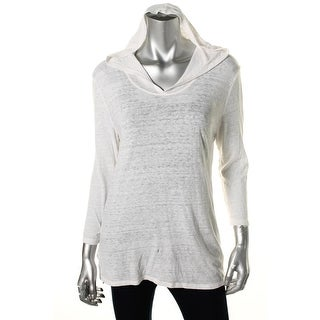 Lucky Brand Womens Hooded Open Back Pullover Top - M