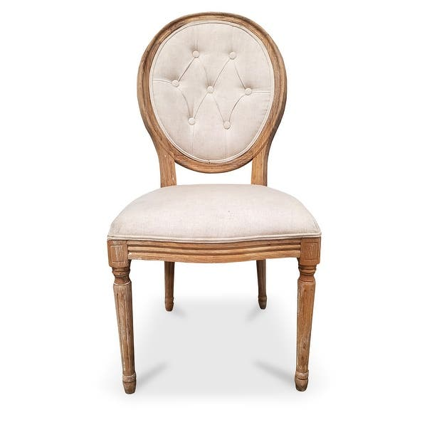 Shop 2xhome French Vintage Linen Round Back Cream Fabric ...