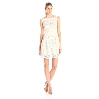 Vince Camuto Lace Sleeveless Boatneck Cocktail  Dress - 2
