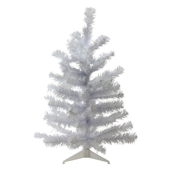 "24"" White Balsam Pine Mini Artificial Christmas Tree - Unlit"