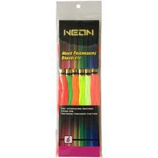 - Neon Friendship Bracelets Floss Pack 6/Pkg
